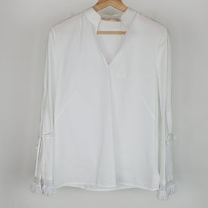 NEW Tory Burch Sophie Top White Size 0